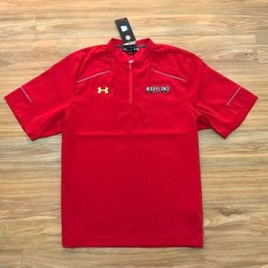 under armour maryland terrapins 1/4 zip SS wind